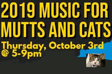 New Benefit! 2019 Music for Mutts and Cats