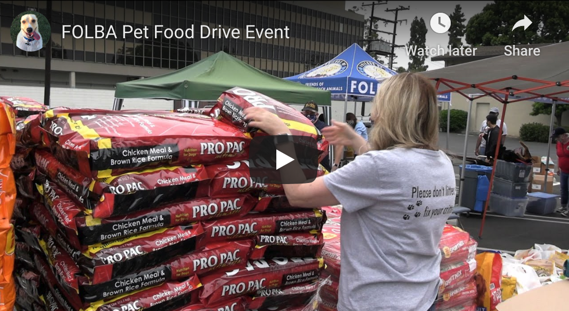 FOLBA Pet Food Drive A Success