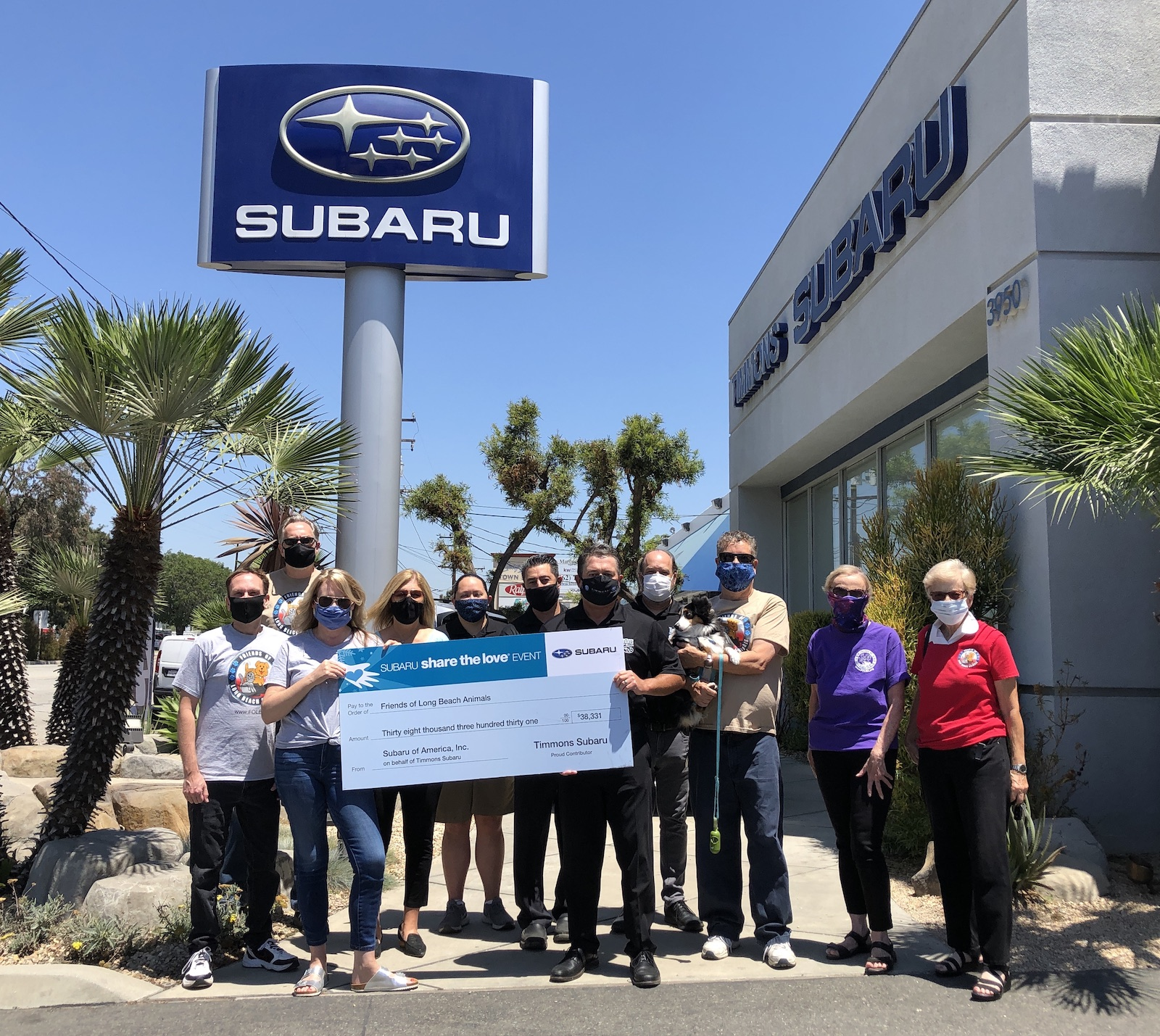 FOLBA recipient of Share the Love funds from Timmons Subaru